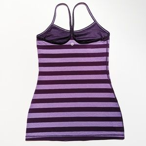 🍋 Lululemon Power Y Tank *Luon Micro Macro Stripe
